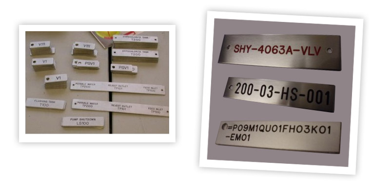 Engraved Equipment Tags